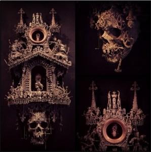 Jason skull sculpture